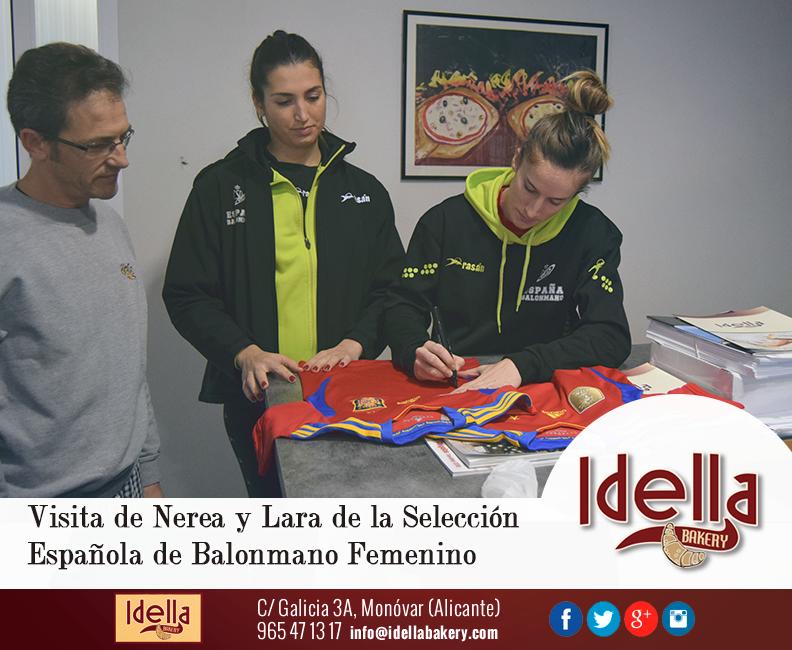 «Las Guerreras» de la Selección Española de Balonmano Femenino visitan las instalaciones de Idella Bakery
